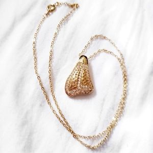 Dainty necklace gold pendant delicate jewelry